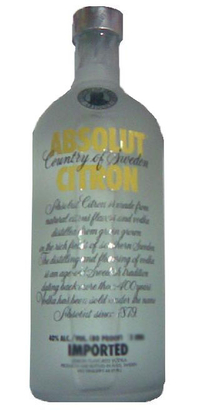 Absolut Vodka Citron- 1 liter
