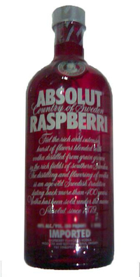 Absolut Vodka Raspberri- liter