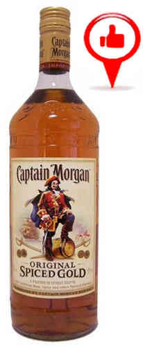 Captain Morgan Spiced Rum- 1 litra
