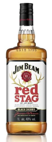 Jim Beam Red Stag Black Cherry- 1 liter